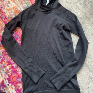 Lululemon black long sleeve with hood!
